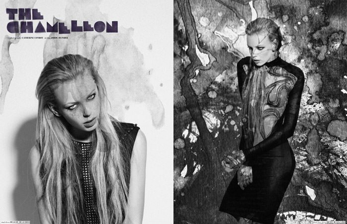 "Dorith Mous photographed by Catherine Conroy in ""The Chameleon"" for The Ones 2 Watch 1"