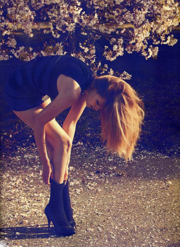 "Edita Vilkeviciute photographed by Camilla Åkrans in ""Divine Idylle"" for Numéro #116, September 2010 12"