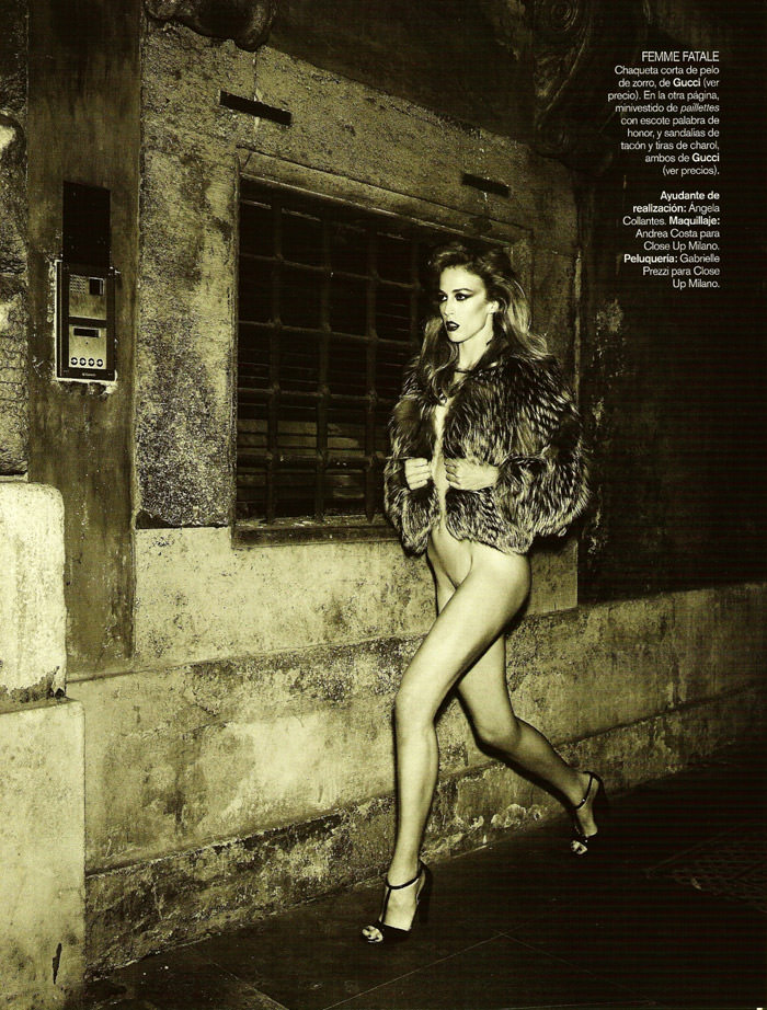 "Raquel Zimmermann photographed by Mariano Vivanco in ""La Dolce Vita (Revisited) for Vogue España, September 2010 1"