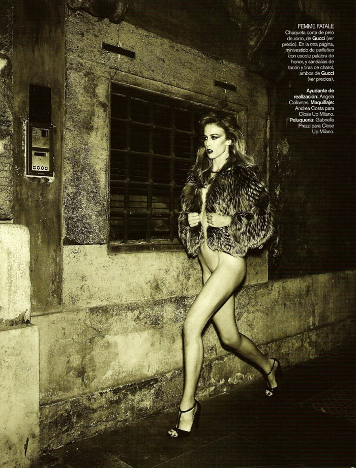 "Raquel Zimmermann photographed by Mariano Vivanco in ""La Dolce Vita (Revisited) for Vogue España, September 2010 13"