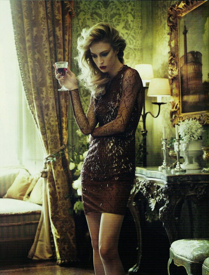 "Raquel Zimmermann photographed by Mariano Vivanco in ""La Dolce Vita (Revisited) for Vogue España, September 2010 6"