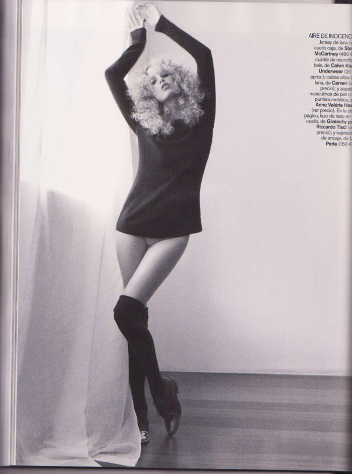 "Karolina Kurkova photographed by Dusan Reljin in ""La Dosis Mínima"" for Vogue España, September 2010"