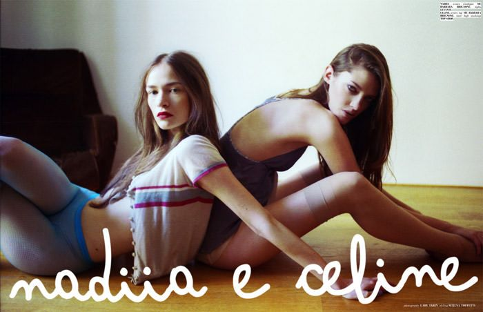 """Nadiia Shapoval & Cèline Derrien photographed by Lady Tarin in """"Nadiia e Celine"""" for The Ones 2 Watch 2"""