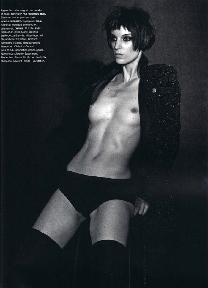 "Iris Strubegger photographed by Peter Lindbergh in ""Smoke Gets In Your Eyes"" for Numéro #116, September 2010"