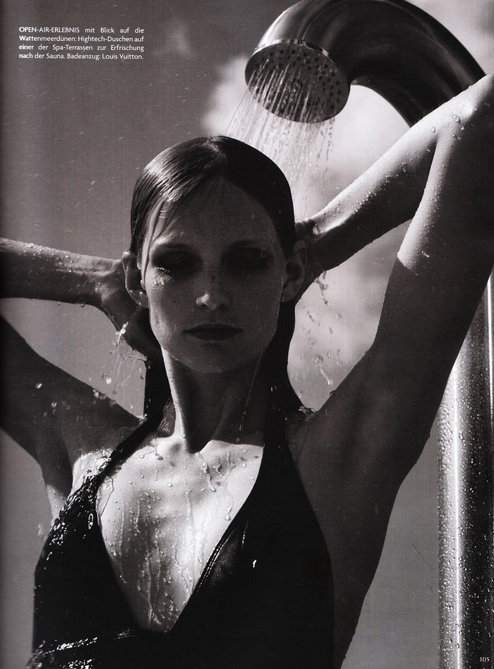 """Katrin Thormann photographed by Blaise Reutersward in """"Salz auf unserer Haut"""" for Vogue Deutschland, November 2010"""