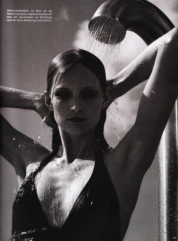"""Katrin Thormann photographed by Blaise Reutersward in """"Salz auf unserer Haut"""" for Vogue Deutschland, November 2010 3"""