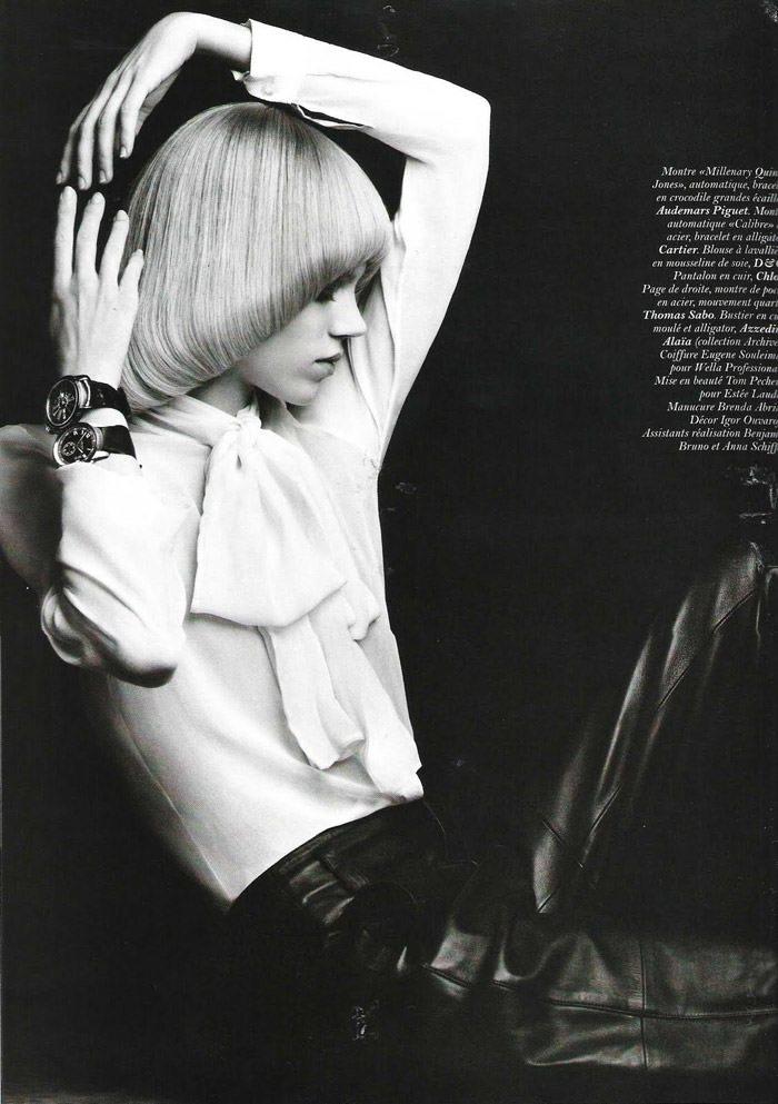 "Freja Beha Erichsen photographed by Hedi Slimane in ""Temps libre"" for Vogue Paris, November 2010 4"