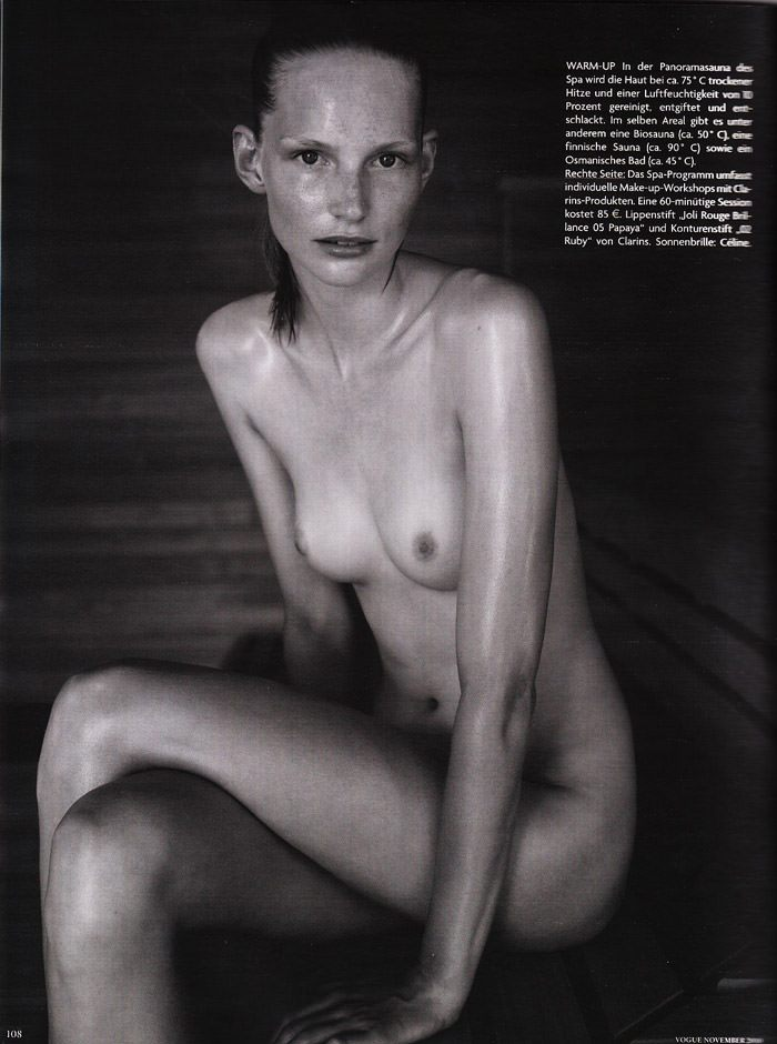 """Katrin Thormann photographed by Blaise Reutersward in """"Salz auf unserer Haut"""" for Vogue Deutschland, November 2010 5"""