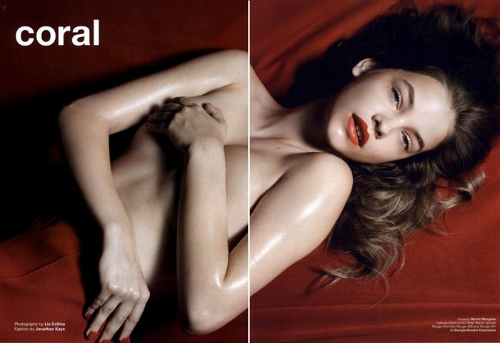 """Barbara Palvin photographed by Liz Collins in """"Coral"""" for Muse #23, Fall 2010 2"""