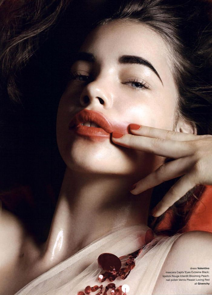"""Barbara Palvin photographed by Liz Collins in """"Coral"""" for Muse #23, Fall 2010 7"""