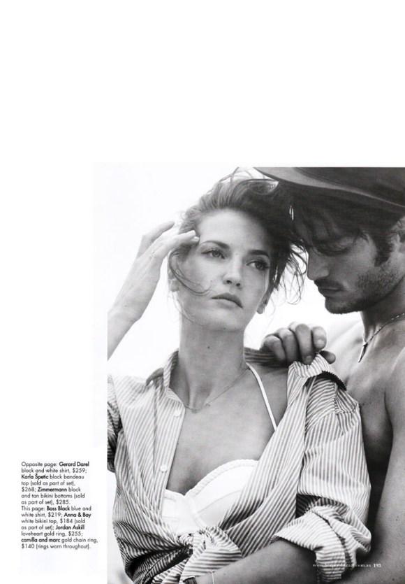 "Diana Dondoe (& Tyson Ballou) photographed by Will Davidson in ""Swept Away"" for Harper's Bazaar Australia, November 2010 7"