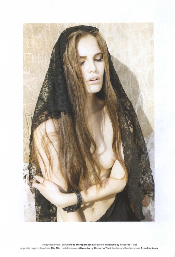 "Alla Kostromichova photographed by Fabio Raineri in ""The Widow"" for Muse #23, Fall 2010"