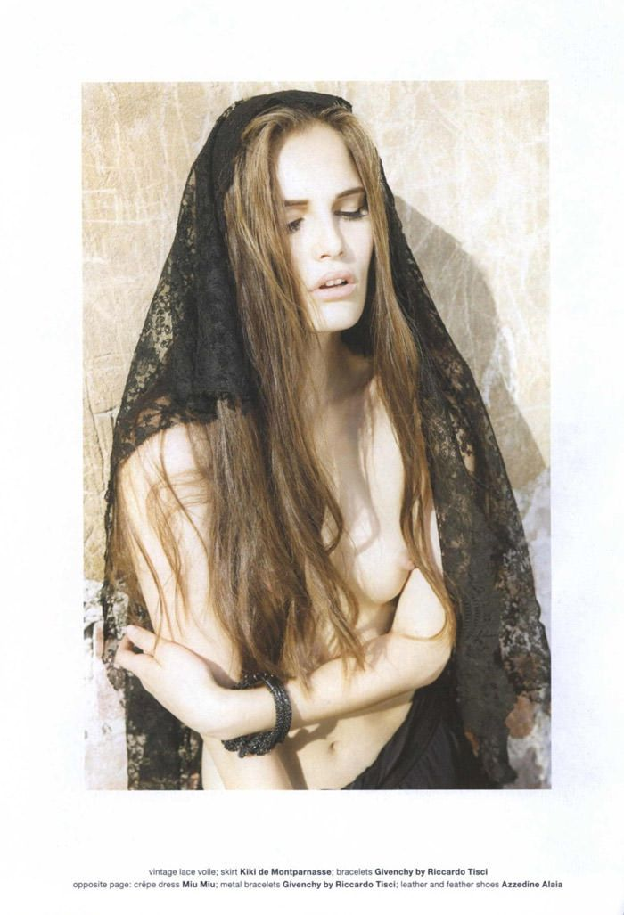 "Alla Kostromichova photographed by Fabio Raineri in ""The Widow"" for Muse #23, Fall 2010 3"