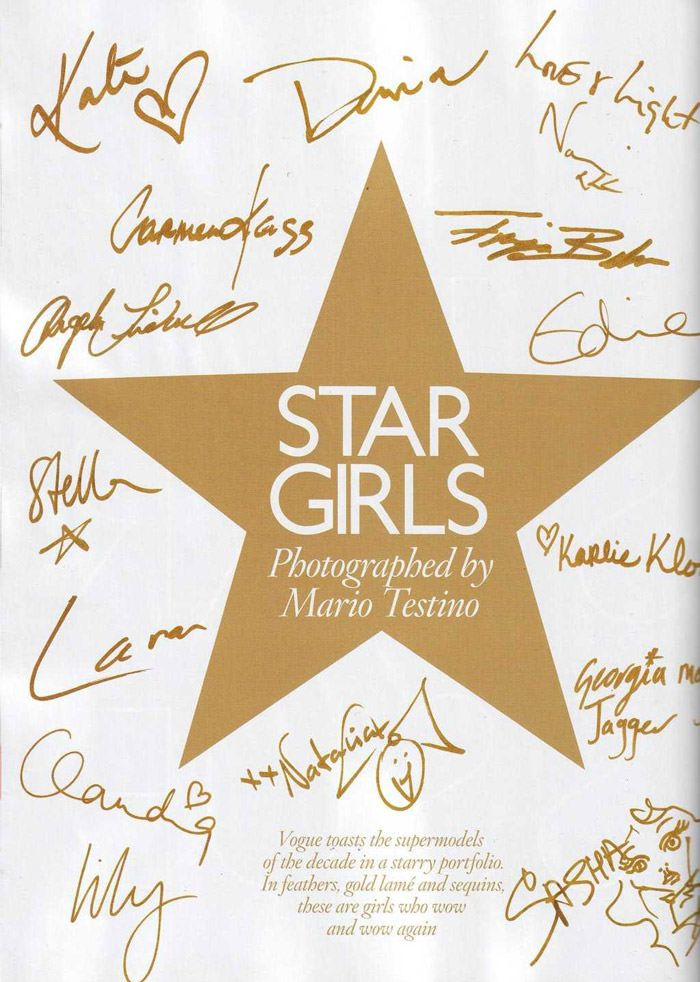 """""""Star Girls"""" photographed by Mario Testino for Vogue U.K., December 2010 2"""