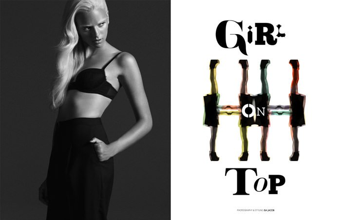 """Girl On Top"" photographed by Isa Jacob for The Ones 2 Watch 2"