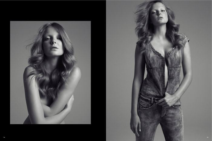 """Enikő Mihalik photographed by Thomas Lagrange in """"Une Icône"""" for Magazine Antidote: The Denim Issue 7"""
