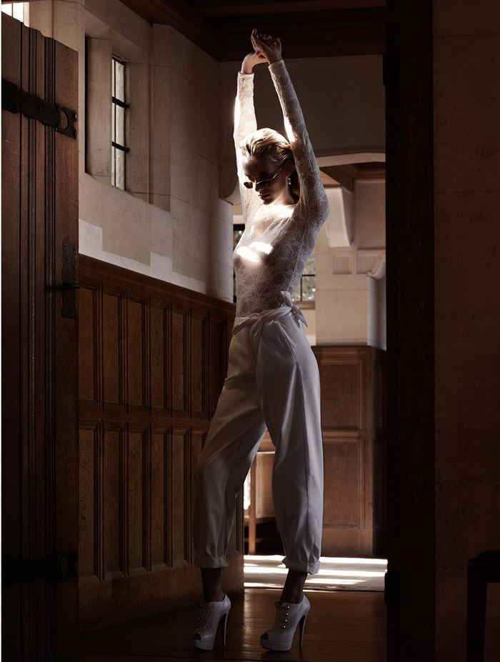 "Denisa Dvorakova photographed by Johan Sandberg in ""White Affair"" for Marie Claire Italia, January 2011 4"
