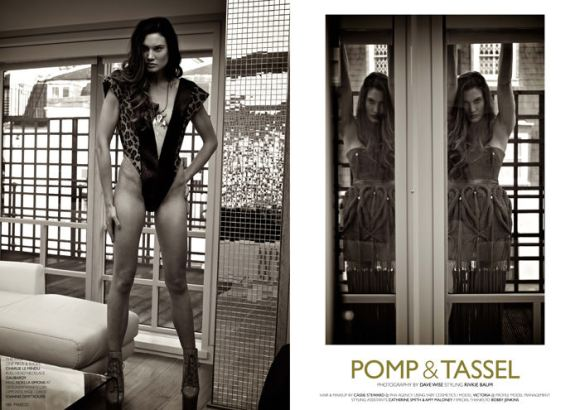 """""""Pomp & Tassel"""" photographed by Dave Wise for Fiasco Magazine, Black & White Issue 1"""