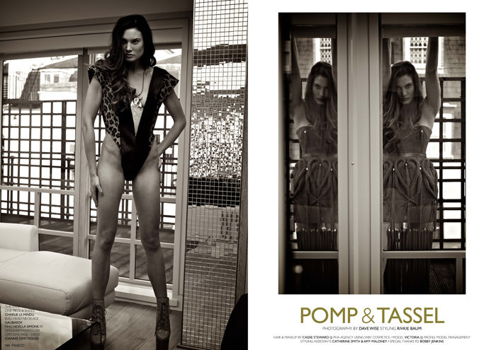 """""""Pomp & Tassel"""" photographed by Dave Wise for Fiasco Magazine, Black & White Issue 2"""