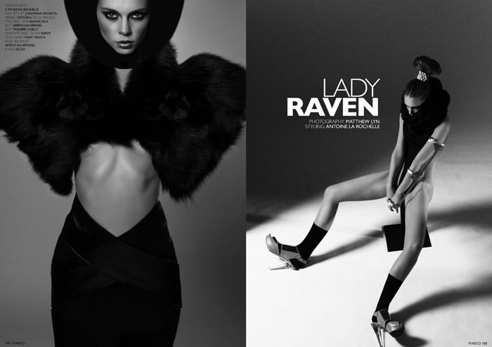"""Lady Raven"" photographed by Matthew Lyn for Fiasco Magazine, Black & White Issue 2"