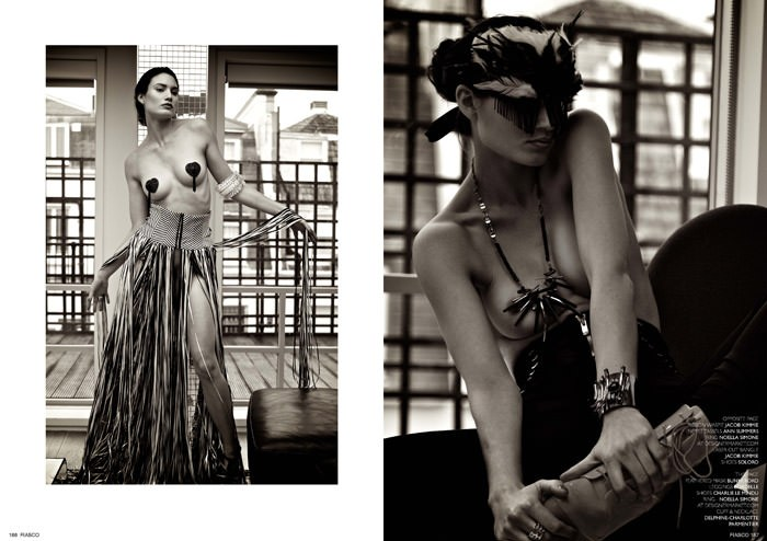 """""""Pomp & Tassel"""" photographed by Dave Wise for Fiasco Magazine, Black & White Issue 5"""