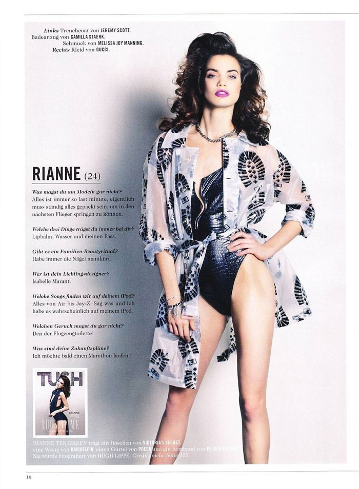 """Rianne Ten Haken photographed by Hugh Lippe in """"My Name Is Rianne"""" for Tush, Spring 2011 8"""