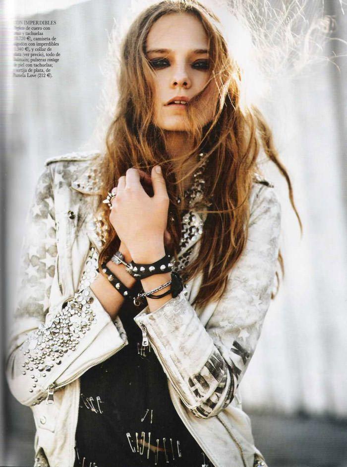 "Nimue Smit photographed by David Vasiljević in ""Princesa Punk"" for Vogue España, April 2011 11"