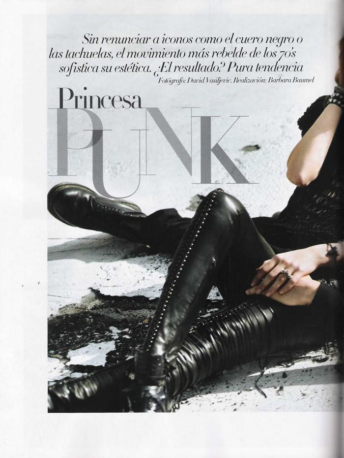 "Nimue Smit photographed by David Vasiljević in ""Princesa Punk"" for Vogue España, April 2011 2"