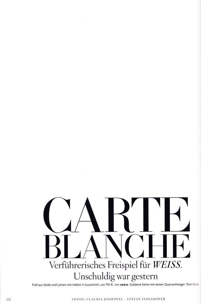 "Britt Maren photographed by Knoepfel & Indlekofer in ""Carte Blanche"" for Vogue Deutschland, April 2011 2"