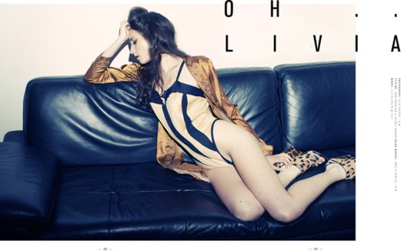 """Olivia Stalin photographed by Nick Hudson in """"Oh... Livia"""" for Poster Magazine 1"""