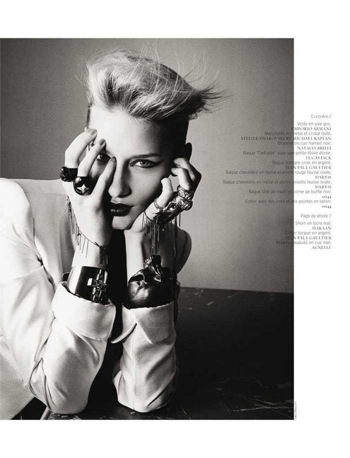 "Linda Vojtova photographed by Taka Mayumi in ""Art Fame"" for French Revue de Modes, Spring 2011"