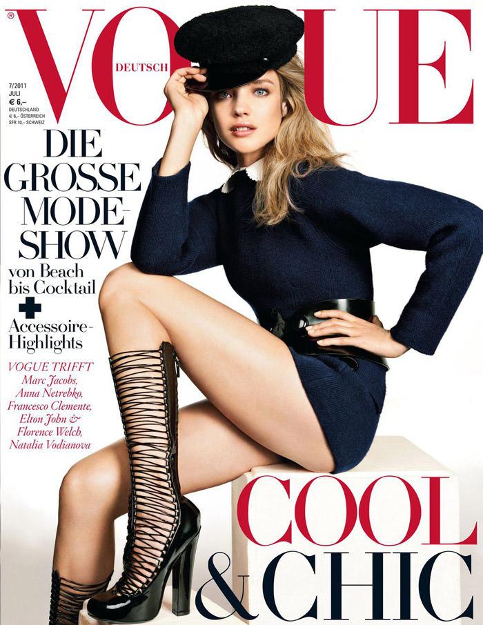 Cover: Natalia Vodianova for Vogue Deutschland, July 2011 1