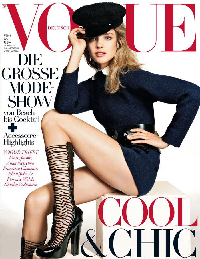 Cover: Natalia Vodianova for Vogue Deutschland, July 2011 2