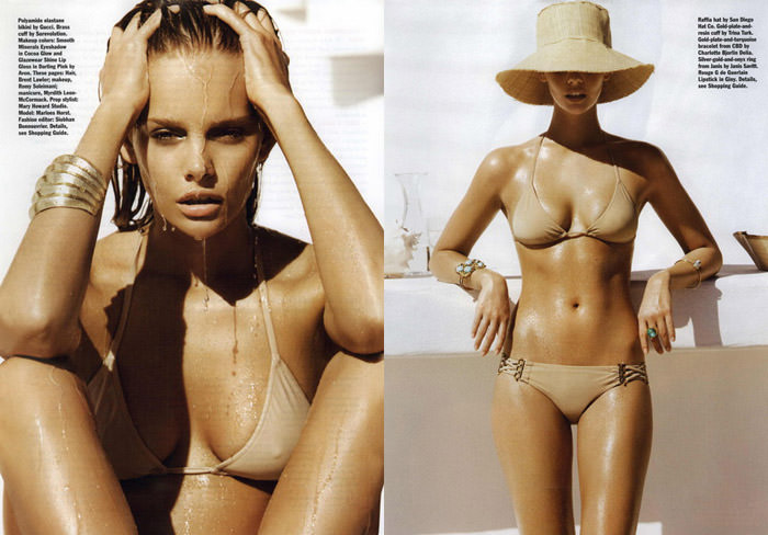 "Marloes Horst photographed by Nicolas Moore in ""Summer Love"" for Allure, June 2011 4"