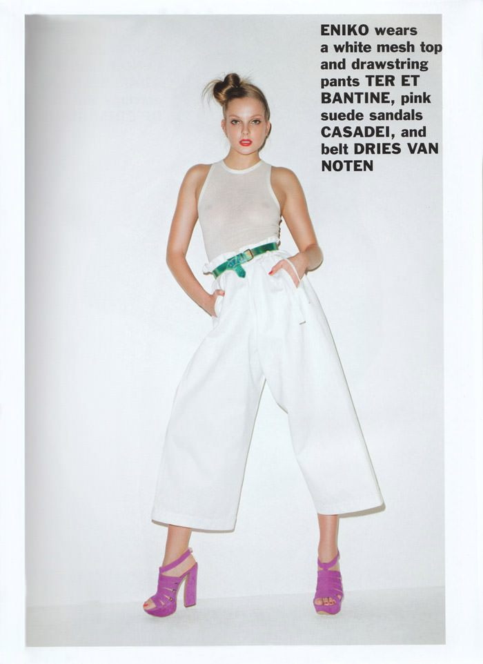 Enikő Mihalik photographed by Terry Richardson for Purple #15, Spring & Summer 2011 4