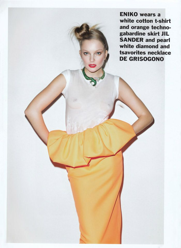 Enikő Mihalik photographed by Terry Richardson for Purple #15, Spring & Summer 2011 2