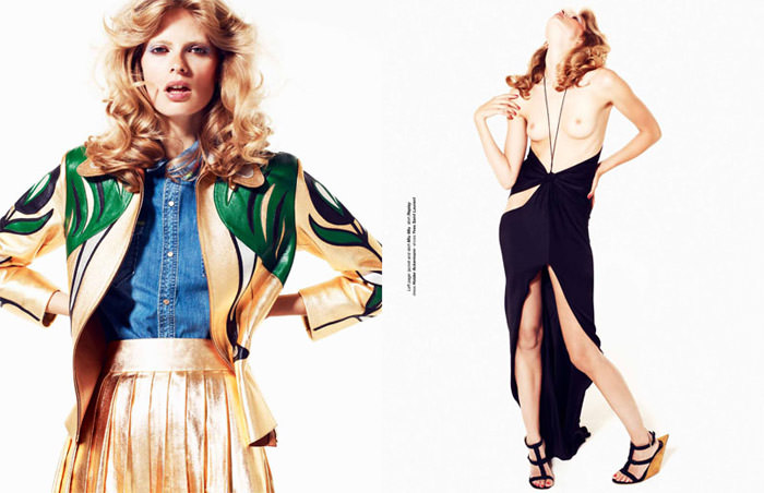 """Julia Stegner photographed by Philip Gay in """"Let The Night Fall"""" for Zoo Magazine, Summer 2011 8"""