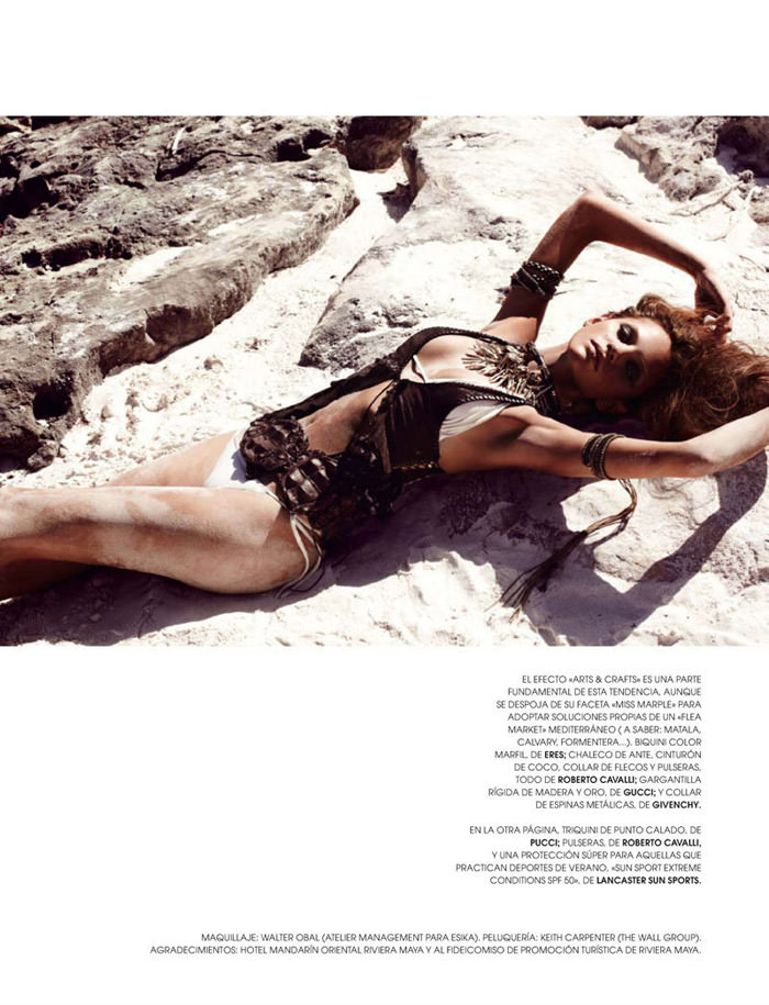 """Regina Feoktistova photographed by David Roemer in """"New Age"""" for Marie Claire España, July 2011 1"""
