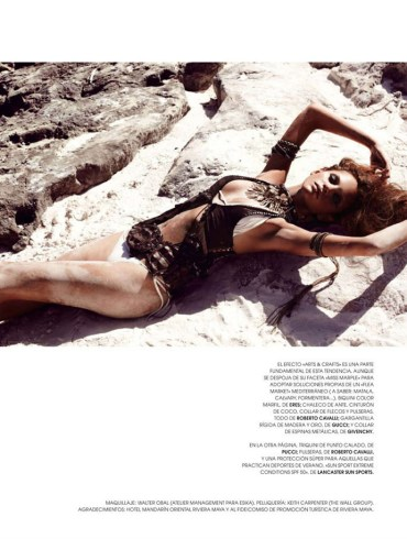 "Regina Feoktistova photographed by David Roemer in ""New Age"" for Marie Claire España, July 2011 1"