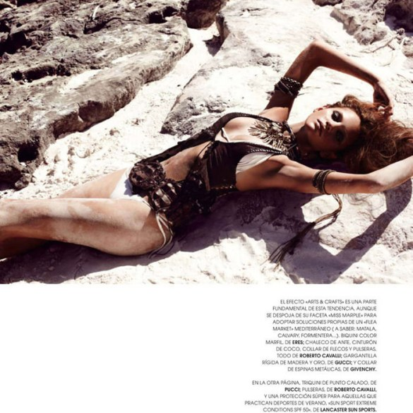 "Regina Feoktistova photographed by David Roemer in ""New Age"" for Marie Claire España, July 2011 2"