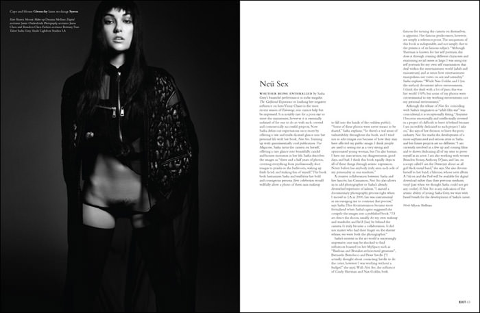 Sasha Grey by Michael Schwarz for Exit Magazine