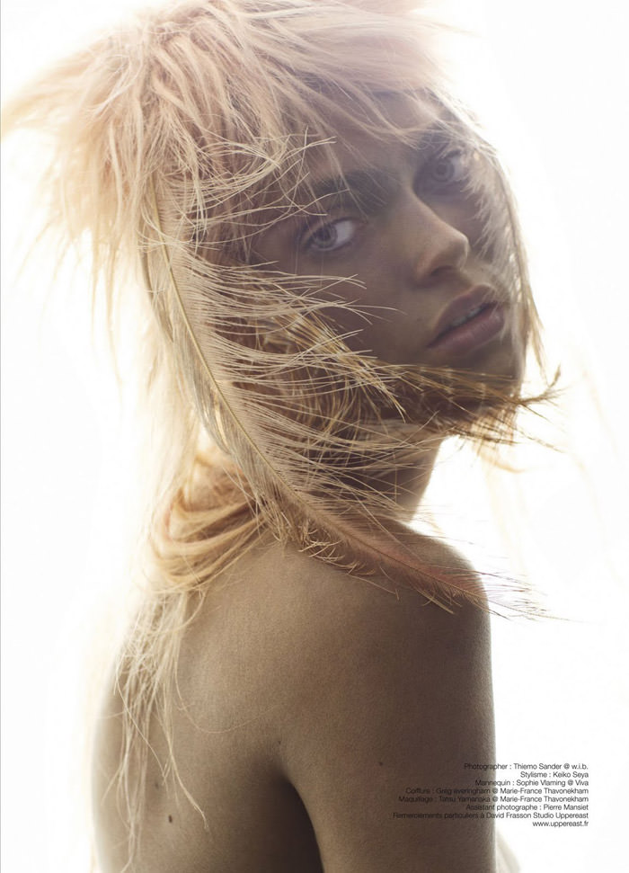 "Sophie Vlaming photographed by Thiemo Sander in ""Wild Skin"" for Soon International #13, Spring 2011"