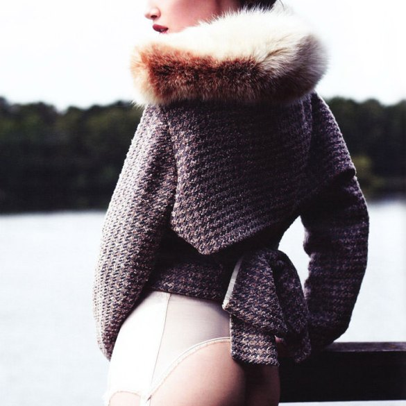 Anais Pouliot by Horst Diekgerdes for Vogue Germany