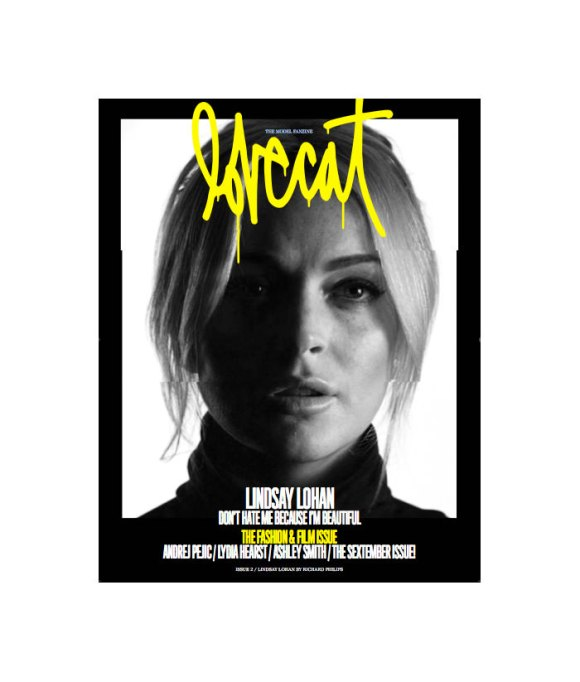 Lindsay Lohan by Richard Phillips for Lovecat Magazine