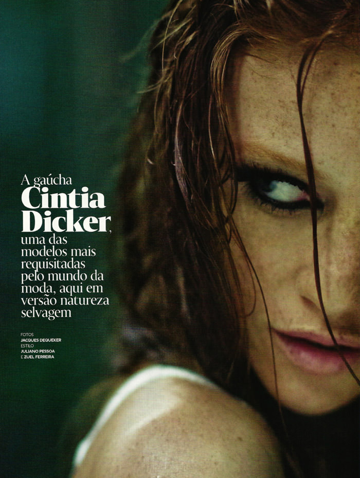 Cintia Dicker by Jacques Dequeker for GQ Brazil