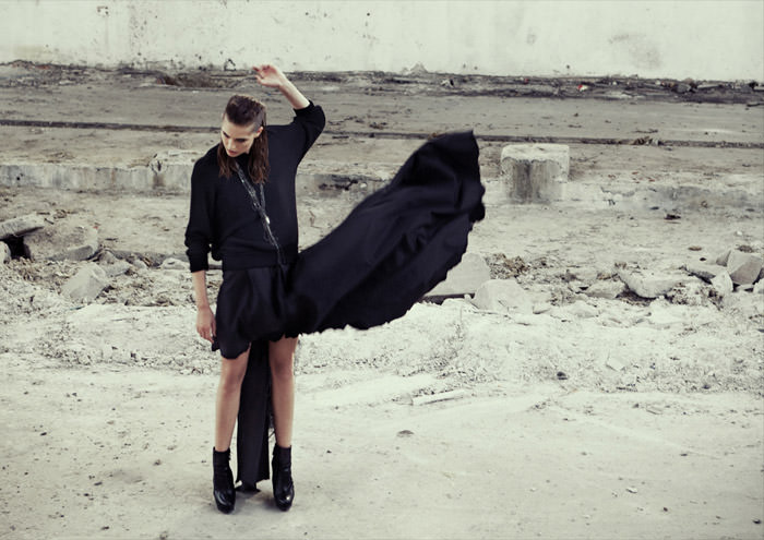 Nadja Bender photographed by Riccardo Bernardi for Dossier Journal, Fall 2011