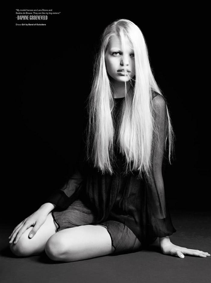 Daphne Groeneveld by Hedi Slimane for V Magazine