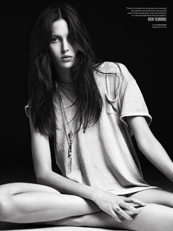 Ruby Aldridge by Hedi Slimane for V Magazine