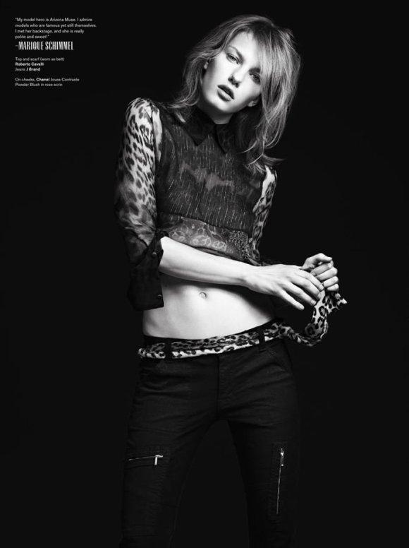 Marique Schimmel by Hedi Slimane for V Magazine