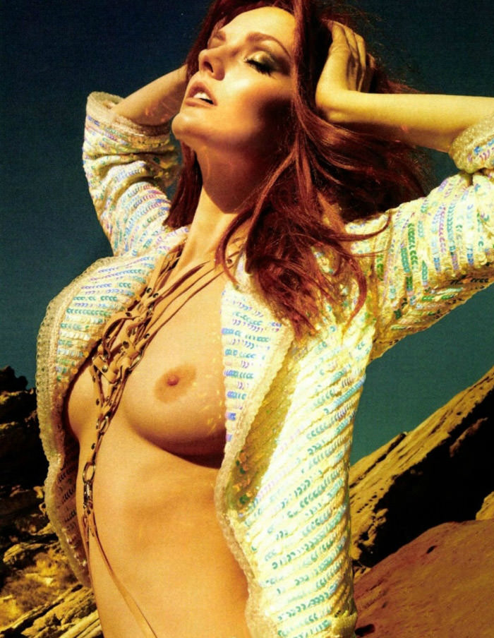 Lydia Hearst photographed by Yu Tsai for Glamour France, March 2012